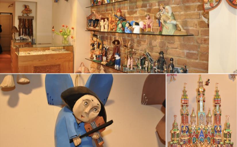 Drewniane ręcznie robione anioły i szopki bożonarodzeniowe doskonałe na prezent